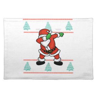 Santa Claus dab dance ugly christmas T-shirt Placemat