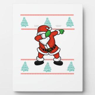 Santa Claus dab dance ugly christmas T-shirt Plaque
