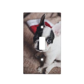 Santa claus dog -funny pug - dog claus light switch cover