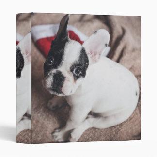 Santa claus dog -funny pug - dog claus vinyl binders