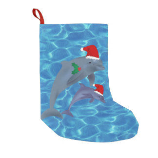 santa claus dolphins stocking