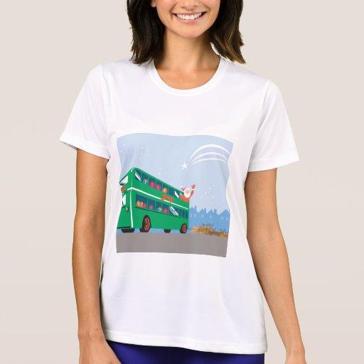 Santa Claus Double Decker Bus Shirts