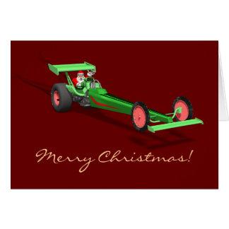 Santa Claus Drag Race Card