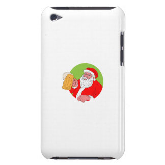 Santa Claus Drinking Beer Drawing Barely There iPod Covers