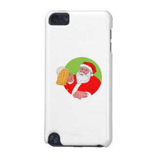 Santa Claus Drinking Beer Drawing iPod Touch (5th Generation) Covers
