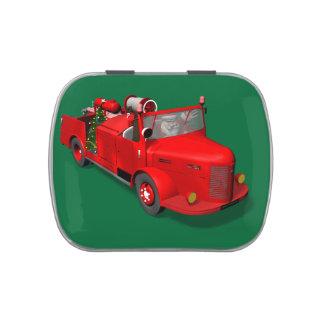 Santa Claus Driving A Fire Truck