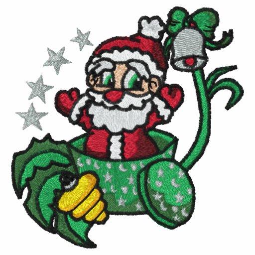 Santa Claus Embroidered Shirt
