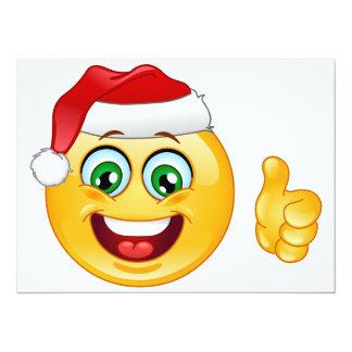 "santa claus emoji 5.5"" x 7.5"" invitation card"