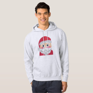 santa claus emoji mens hooded hoodie sweatshirt