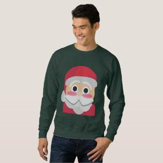 santa claus emoji mens sweatshirt
