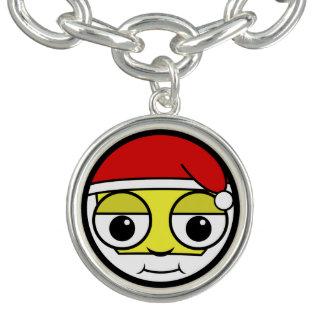 Santa Claus Face Charm Bracelet