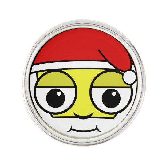 Santa Claus Face Lapel Pin