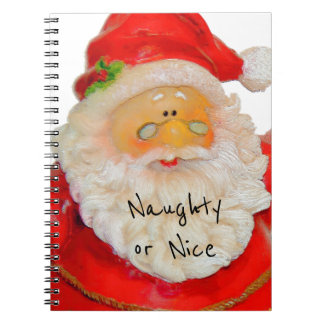 Santa Claus Father Christmas Naughty or Nice List Spiral Notebook