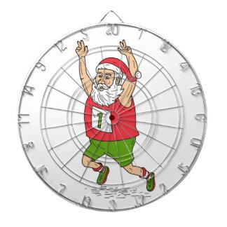 Santa Claus Father Christmas Running Marathon Cart Dartboard
