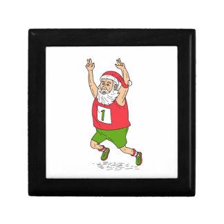 Santa Claus Father Christmas Running Marathon Cart Gift Box