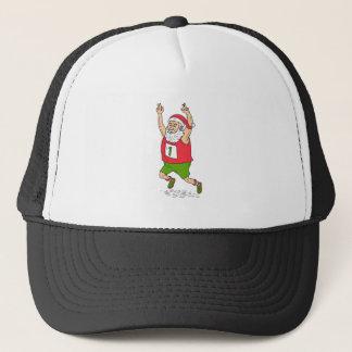 Santa Claus Father Christmas Running Marathon Cart Trucker Hat
