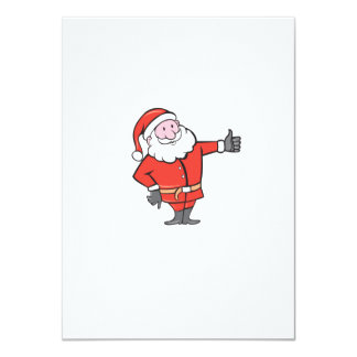 Santa Claus Father Christmas Thumbs Up Cartoon Personalised Announcement