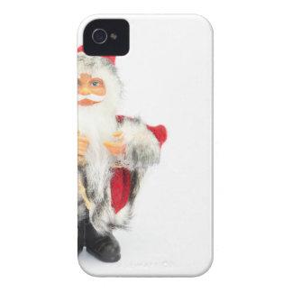 Santa Claus figurine isolated on white background iPhone 4 Case