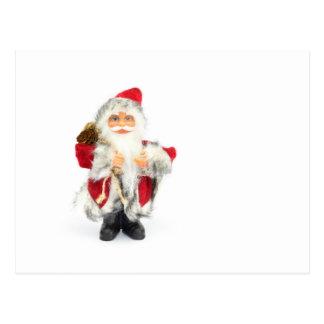 Santa Claus figurine isolated on white background Postcard