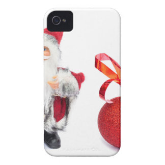 Santa Claus figurine with red christmas ball iPhone 4 Cover