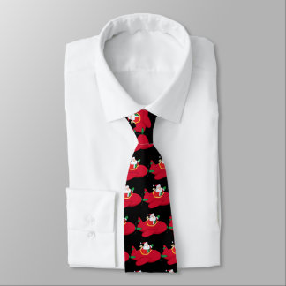 Santa-Claus-Flying-A-Plane-And-Waving Tie