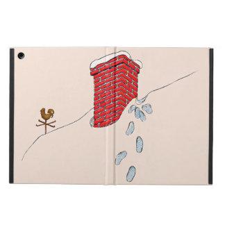 Santa Claus Footprints Chimney Snow Weathervane iPad Air Cover