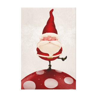 Santa Claus fungus Stretched Canvas Print
