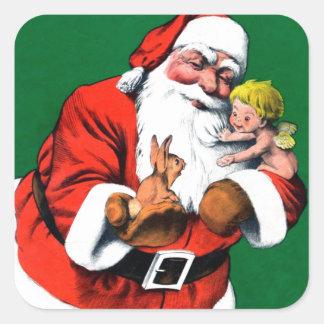 Santa Claus Funnies - Cherub Sticker