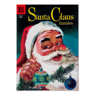 Santa Claus Funnies - Decorating the Tree Poster