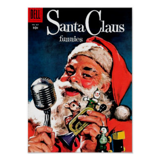 Santa Claus Funnies - On the Radio Posters