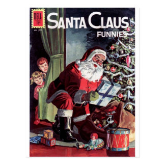 Santa Claus Funnies Postcard