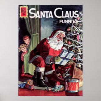 Santa Claus Funnies Poster