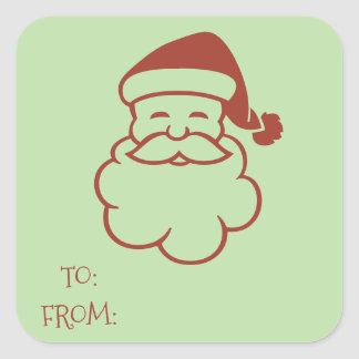 Santa Claus Gift Tag Stickers
