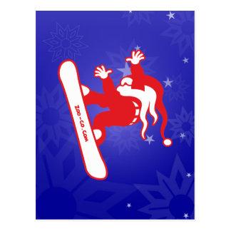 Santa Claus Goes Snowboarding! Post Cards