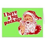 Santa Claus has a big package