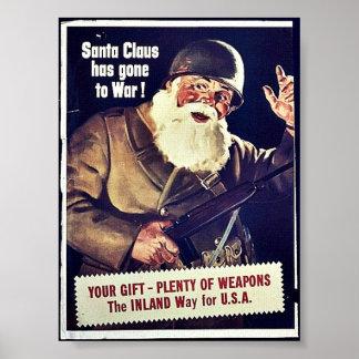 Santa Claus Has Gone To War Poster