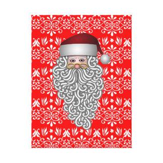 Santa Claus Head Canvas Prints