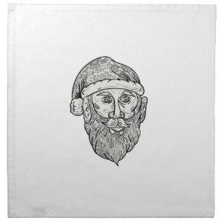 Santa Claus Head Mandala Napkin