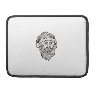 Santa Claus Head Mandala Sleeve For MacBooks