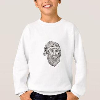 Santa Claus Head Mandala Sweatshirt