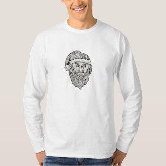 Santa Claus Head Mandala T-Shirt