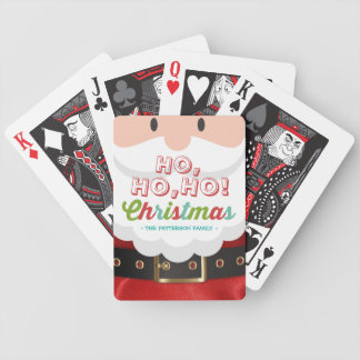 Santa Claus Ho Ho Christmas Happy New Year Holiday Bicycle Playing Cards