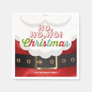 Santa Claus Ho Ho Christmas Happy New Year Holiday Disposable Napkins