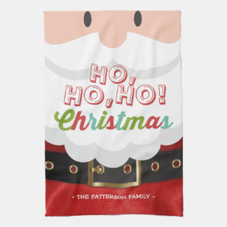 Santa Claus Ho Ho Christmas Happy New Year Holiday Kitchen Towel