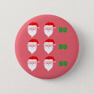 Santa Claus Ho Ho Ho 2 Inch Round Button