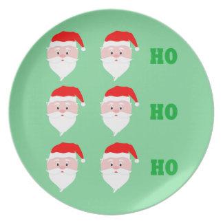 Santa Claus Ho Ho Ho Plate