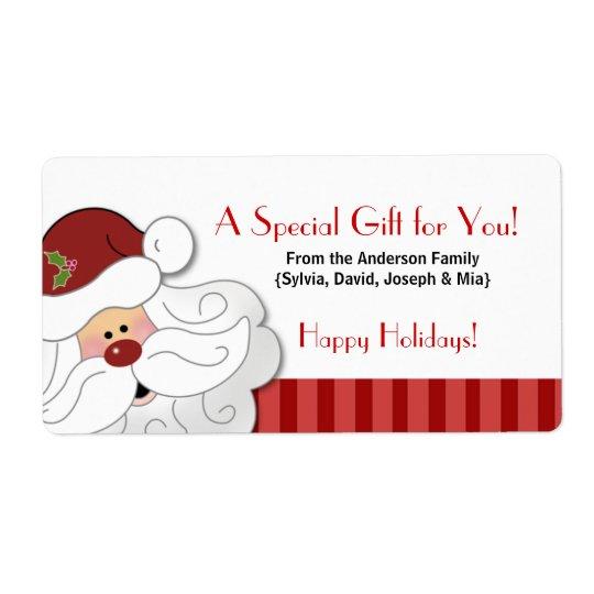 Santa Claus Holiday Baking / Cookie Sticker