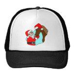 Santa Claus Horse Mesh Hats