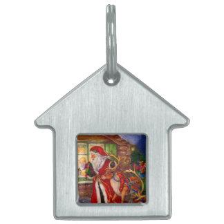 Santa claus illustration - christmas illustrations pet ID tag