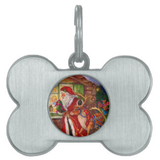 Santa claus illustration - christmas illustrations pet tag